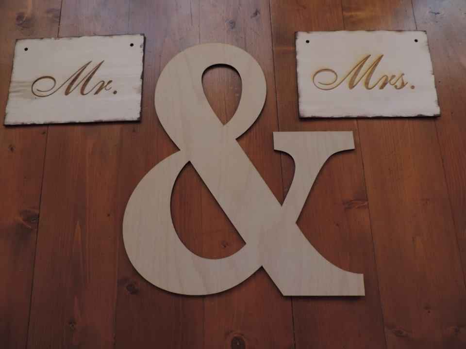 Drevený svadobný set - Obrázok č. 1