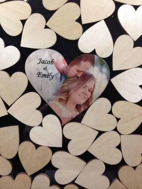 Svadobné srdce na vhadzovanie srdiečok s podpismi  - Obrázok č. 2