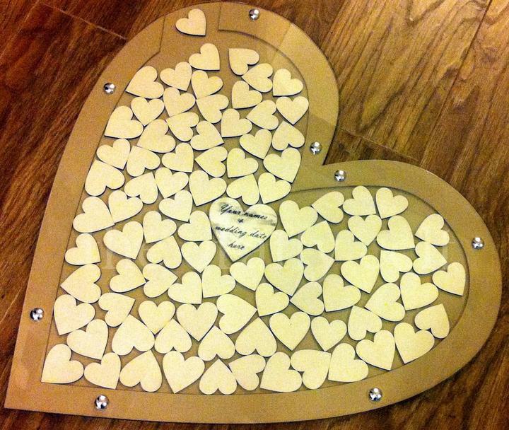 Svadobné srdce na vhadzovanie srdiečok s podpismi  - Obrázok č. 4