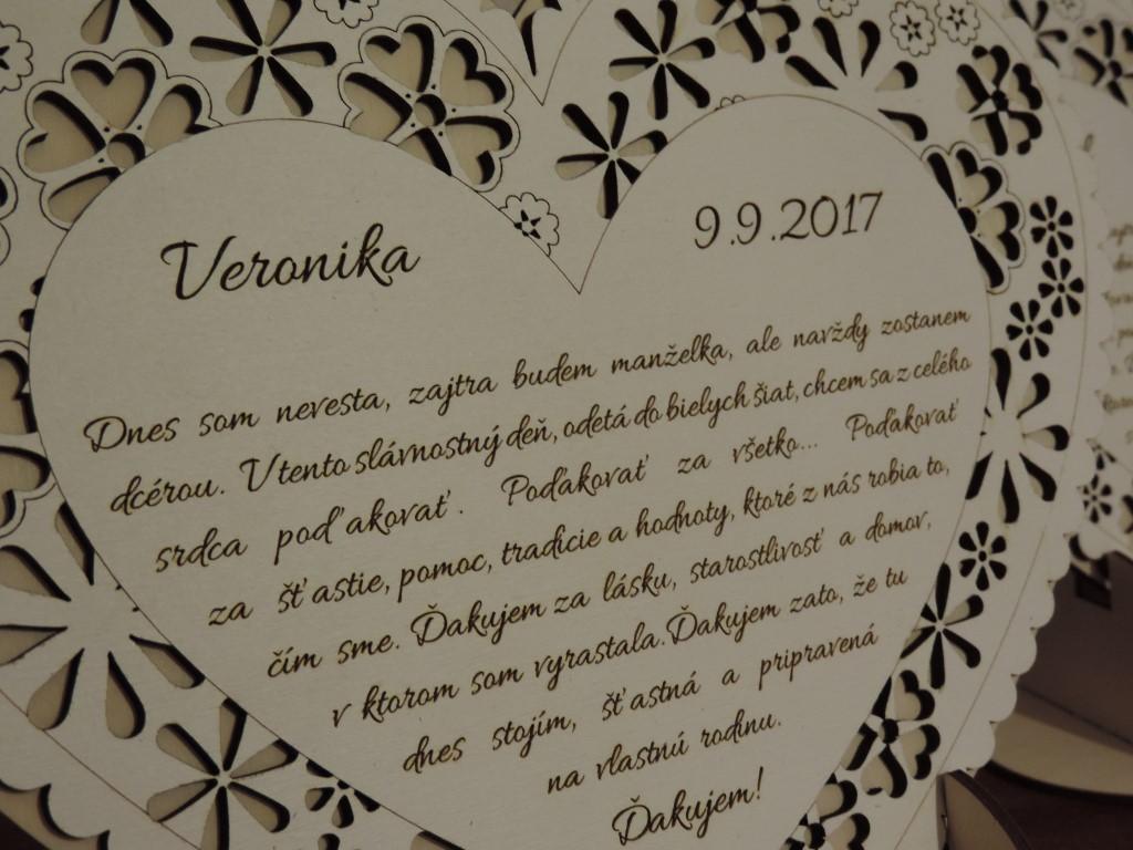 Svadobné podakovanie exkluzív na stojane II - Obrázok č. 4