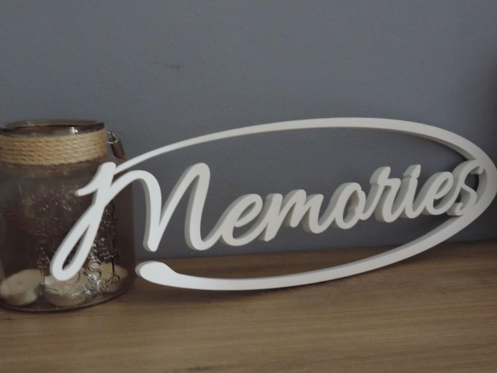 Originálny nápis Memories - Obrázok č. 1