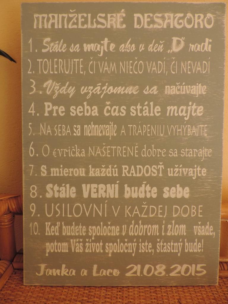 Manželské desatoro - Obrázok č. 3