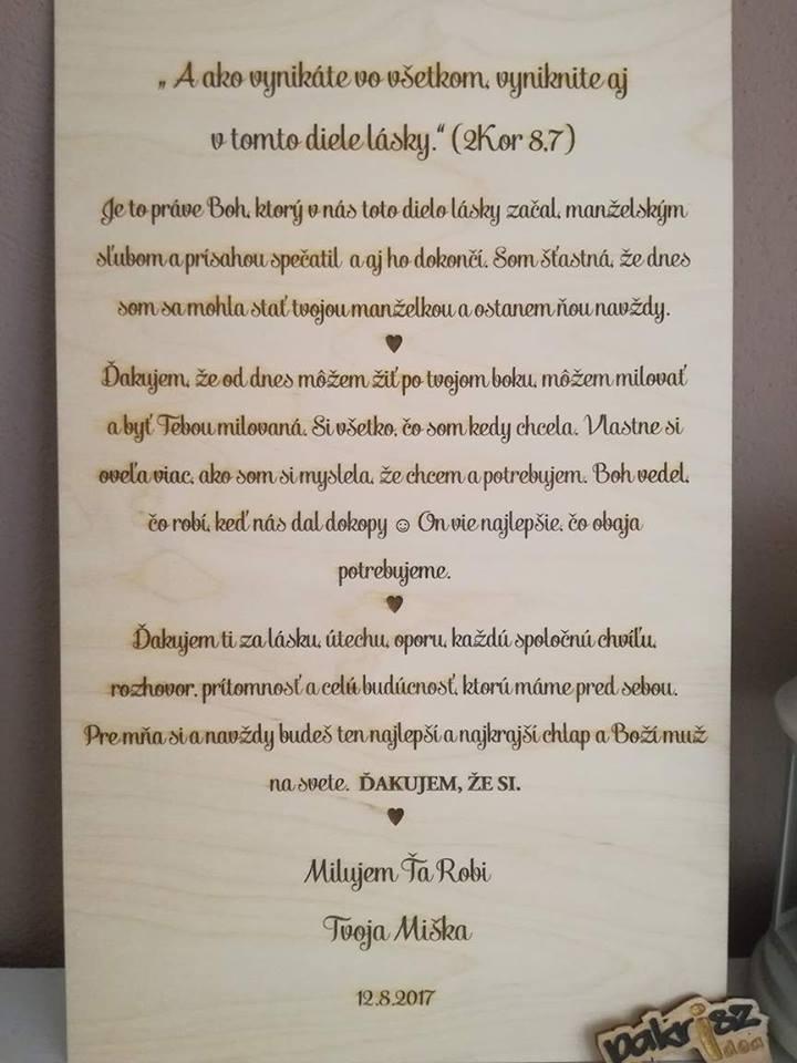 Vyznanie ženíchovy /neveste/ - Obrázok č. 3