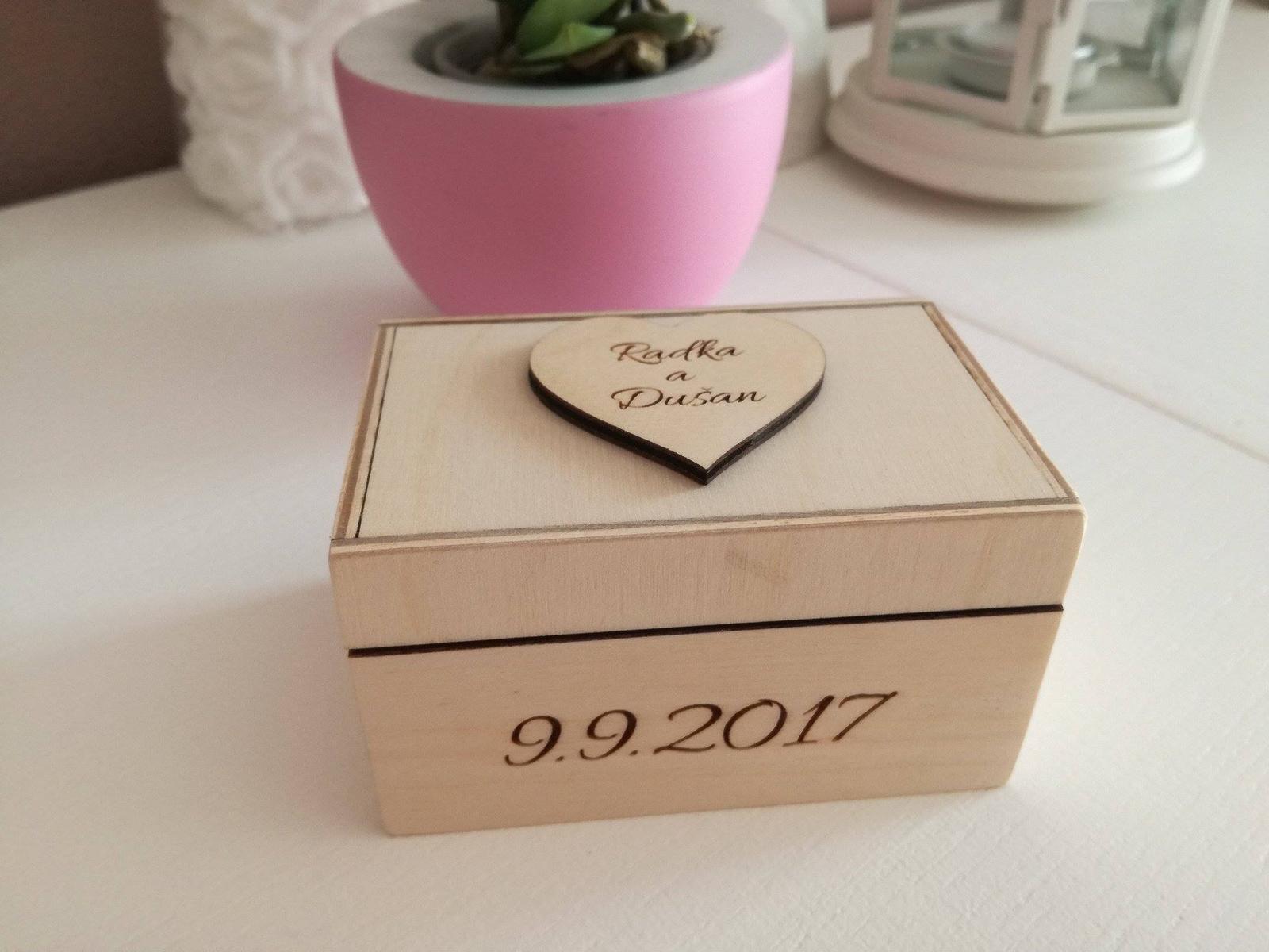 Krabička na obrúčky - Obrázok č. 4