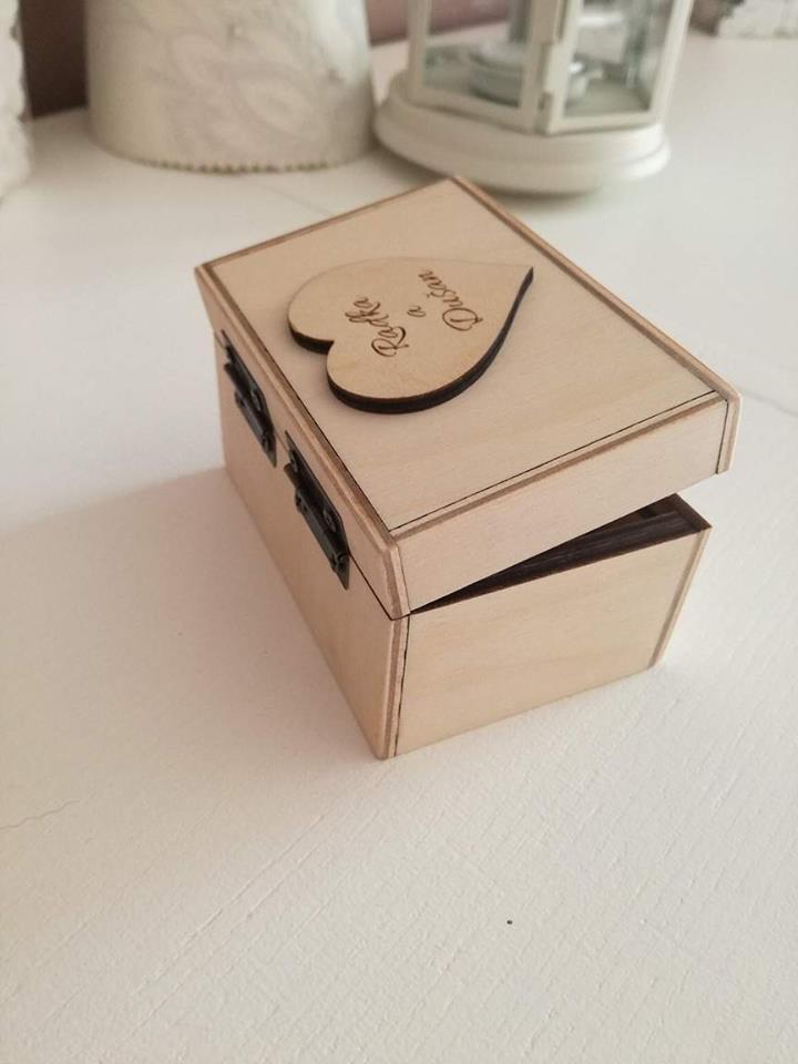 Krabička na obrúčky - Obrázok č. 3