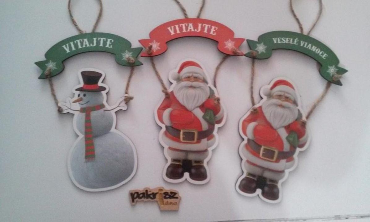 Vianočná tabuľka na dvere - Obrázok č. 1