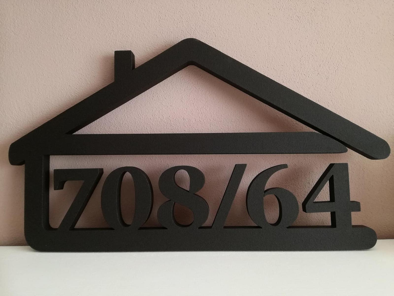 Súpisné čísla s domčekom - Obrázok č. 1