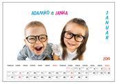 Nástenný Kalendár s vlastnými fotografiami,