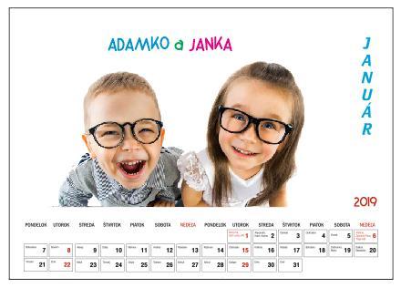 Nástenný Kalendár s vlastnými fotografiami - Obrázok č. 1