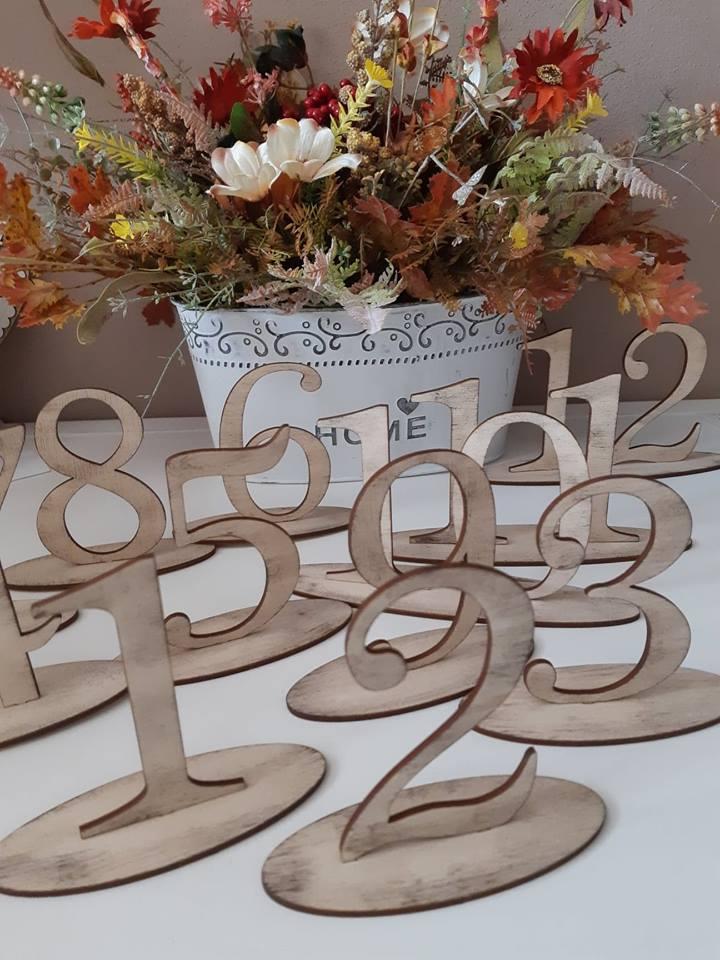 Čísla na svadobný stôl - Obrázok č. 1