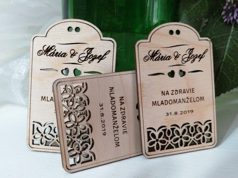 Drevené štítky na víno  - Obrázok č. 3