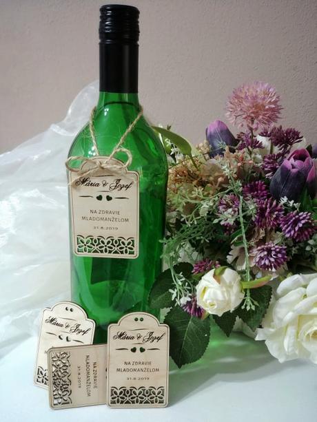 Drevené štítky na víno  - Obrázok č. 2