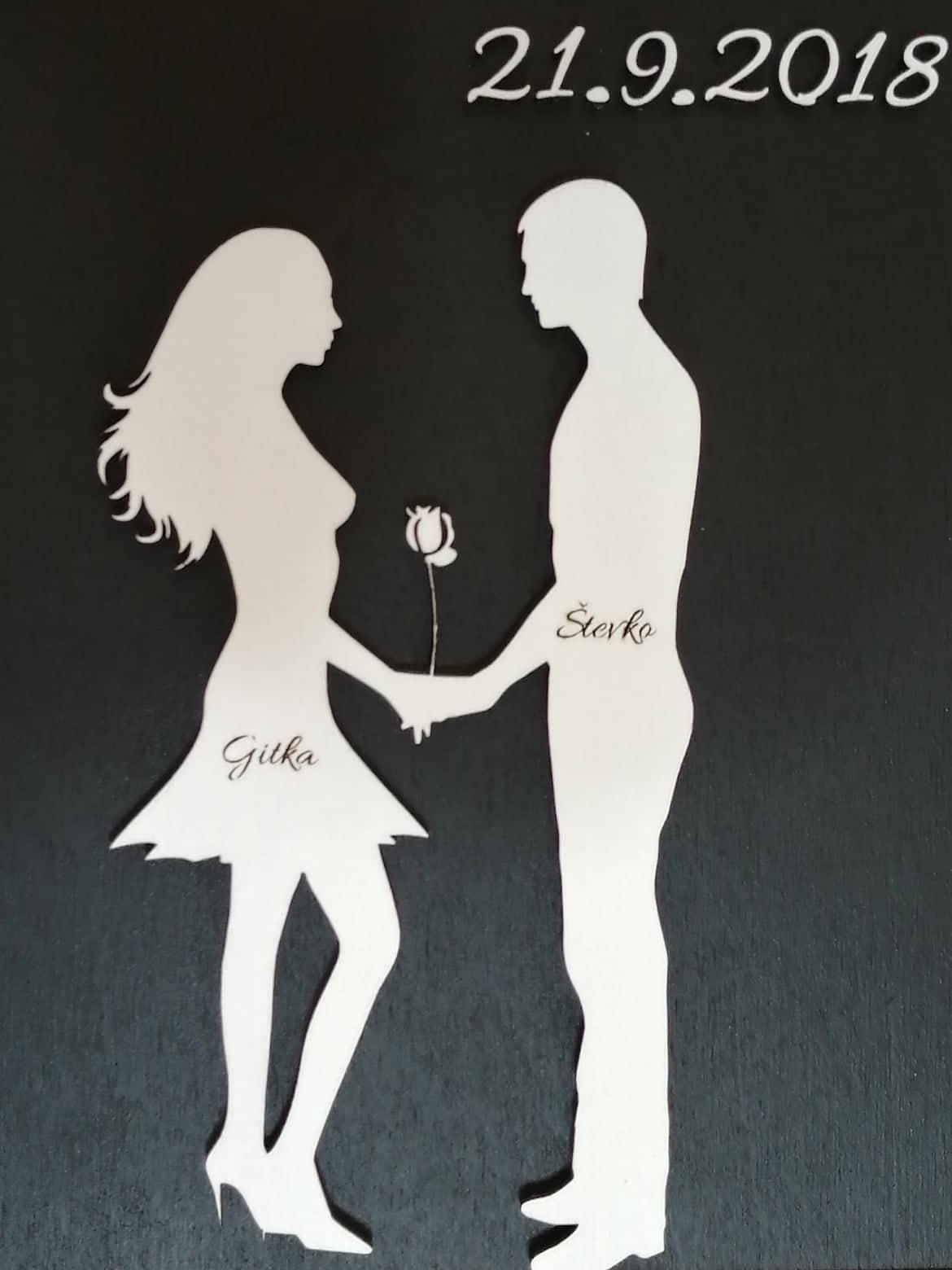 Obraz zamilovaný pár - Obrázok č. 1