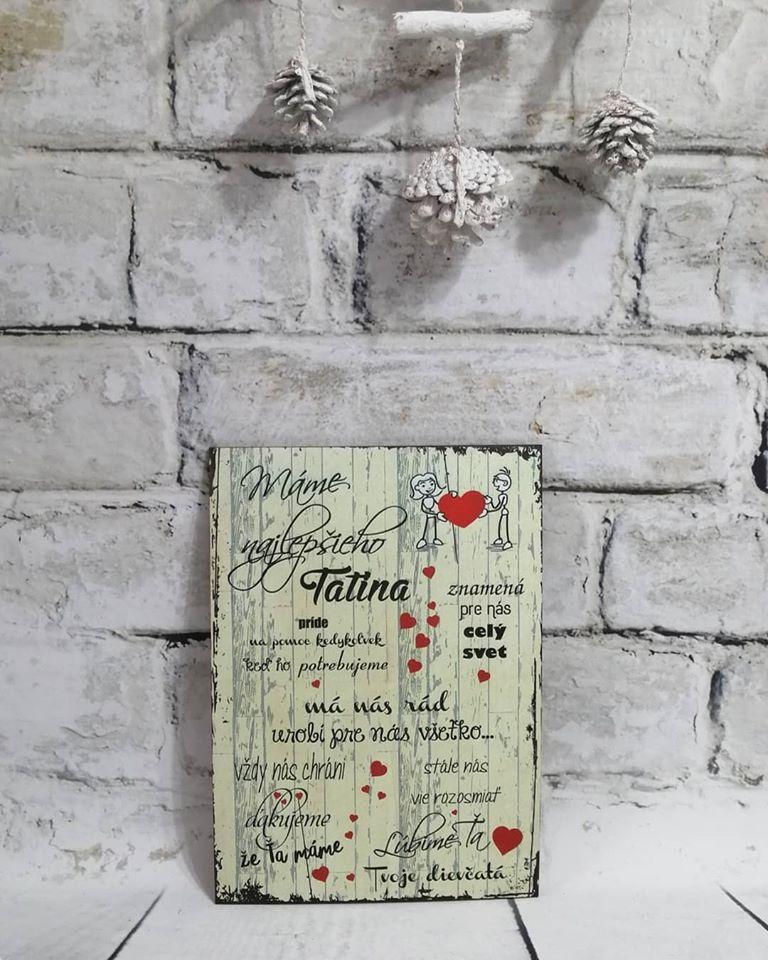 Tabuľka pre Tatina - Obrázok č. 1