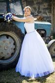 Princeznovské bílé šaty na prodej - 38, 38