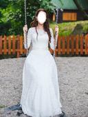 Celokrajkové svatební šaty, 36