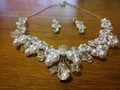 Svadobný náhrdelník + náušnice,