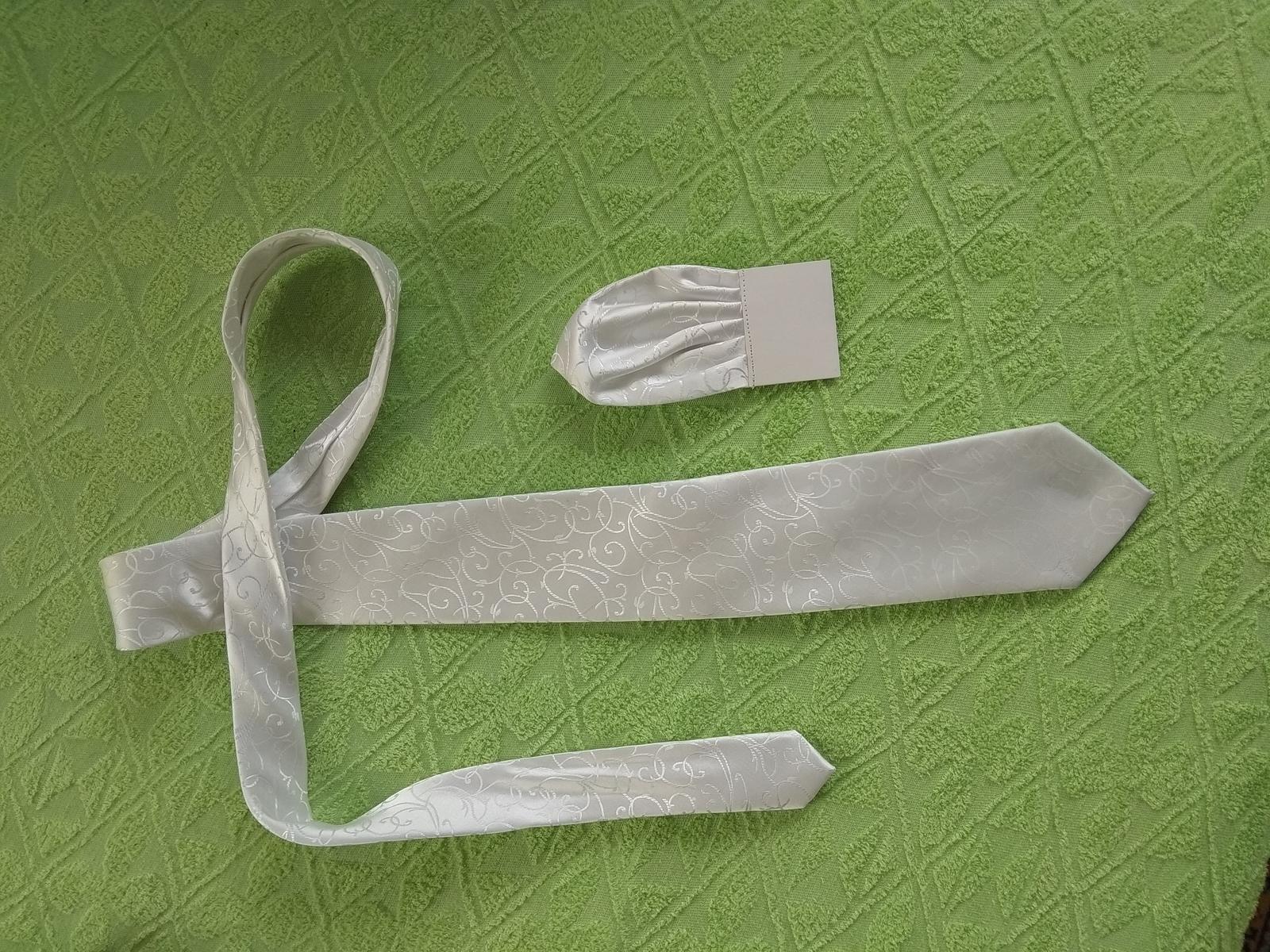 Svadobná kravata so vzorom - Obrázok č. 2