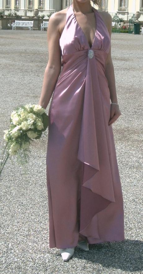 Společenské dlouhé fialové šaty - Obrázek č. 3