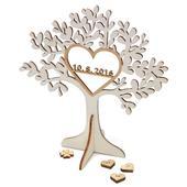 Svatební strom s datem,