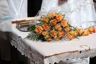 Moja svadobná kytica v kostole