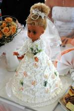 Svadobná bábika - torta