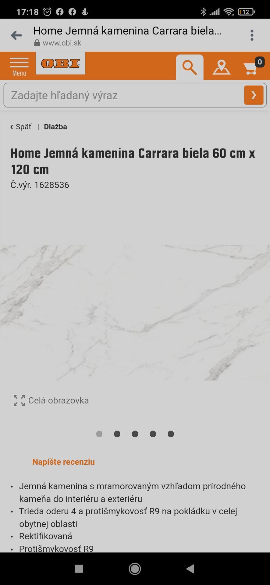 Zdravím. Chceme si dat do kúpelni tuto dlazbu bielu na steny, sivu na zem a do sprchy a za vanu túto mozaiku... chcela by som sa spýtať ci nemate tieto dlazby pouzite u vas doma a poprípade foto k tomu ako to vyzera dakujem :) - Obrázok č. 1