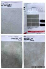 Kupelna: dlazba 80x80 grey, obklad 120x60 graphite a white, vana - mozaika graphite 10x10