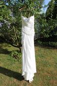 Nepoužité svatební šaty s rozparkem IVORY 38-, 40