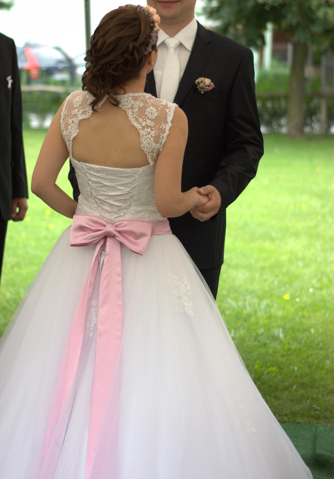 Princeznovské šaty pre nižšiu nevestu(34-38) - Obrázok č. 2