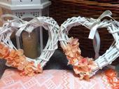Svatební srdce na dveře,
