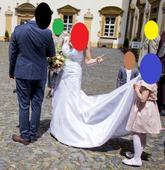 Svatební šaty s ramínky, čistě bílé, římský styl, 42