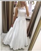Krajkové svatební šaty vel 34-36-38, 36