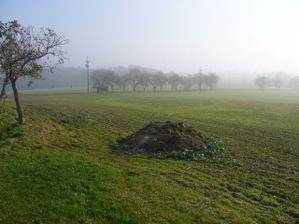 Tak ještě jednou pole, aktuální stav, trocha hlíny od sousedů.. :-)bude jí potřeba mnohem víc...