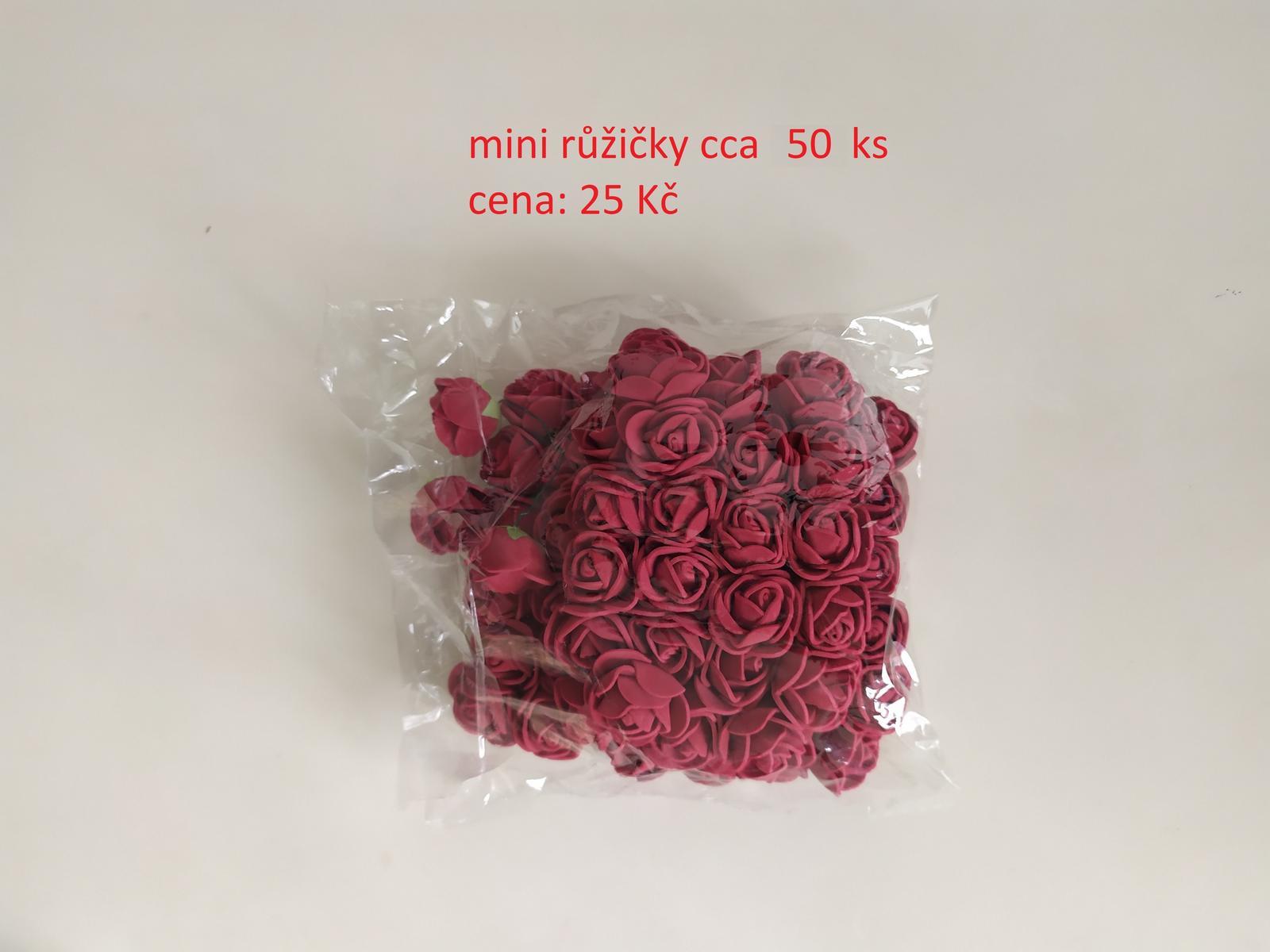 Mini růžičky tmavě červené - Obrázek č. 1
