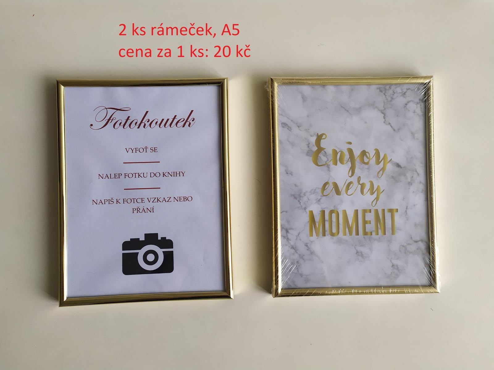 2ks Zlaté fotorámečky - Obrázek č. 1