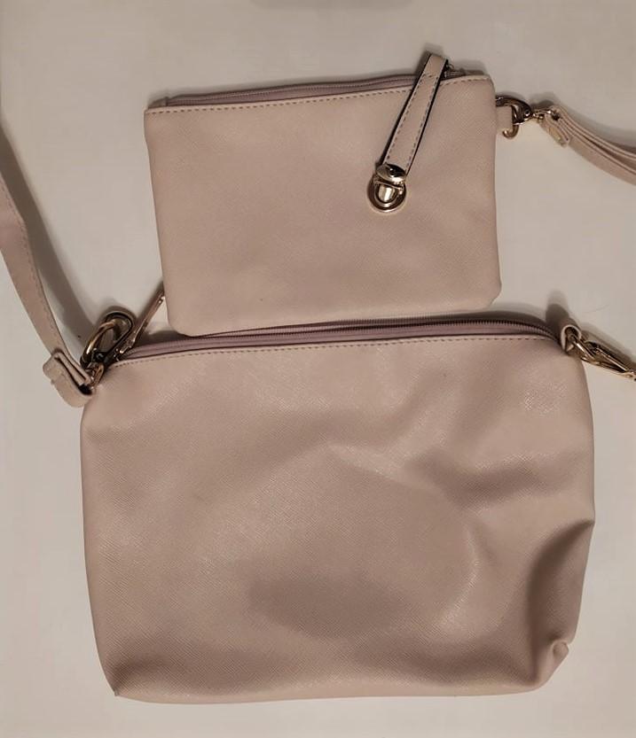 Béžová kabelka + peněženka - Obrázek č. 1