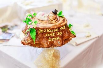 oznámenie by malo byť v tomto štýle, super ak by sa niekto inšpiroval oznámením a podaroval mi takúto tortičku :-)