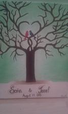 náš svadobný strom, osobný darček od mojej družičky :-)