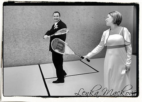 Kristína Ingrid{{_AND_}}Pavol - na squashi bola sranda :)