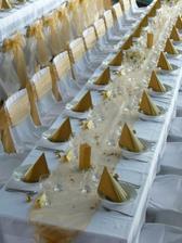 Výzdobu chceme klasickú: bielo - zlata ...