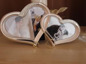 rámik svadobný dar od našej skvelej susedky :-)