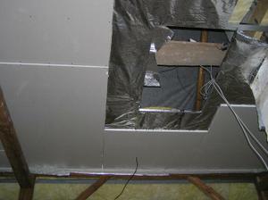 díra na skládací schody na minipůdičku