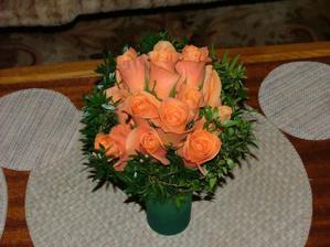 svatební kytičku dělala Davídkovo maminka