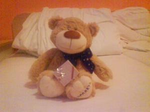 Takto probehla zadost o ruku na velikonoce:-)(medvidek se mi jeste krasne zabalil..)