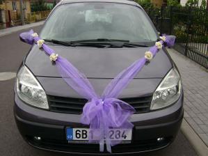 výzdoba auta pro ženicha