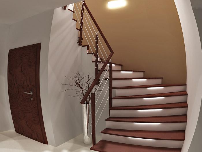 Vstup, hala a pak dveře, kliky a jiné detaily - Líbí se mi barevné řešení.