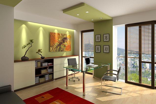Obývací pokoj a kuchyn ispirace - jeste jednou pruh, na konci pruhu by tam mel byt nejak co nejmene viditelne umisteny projektor