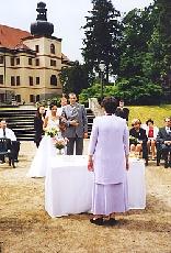Monika + Patrik - 7.7.2007 - Nevěděli jsem, jestli svatbu v zahradě či v sále...