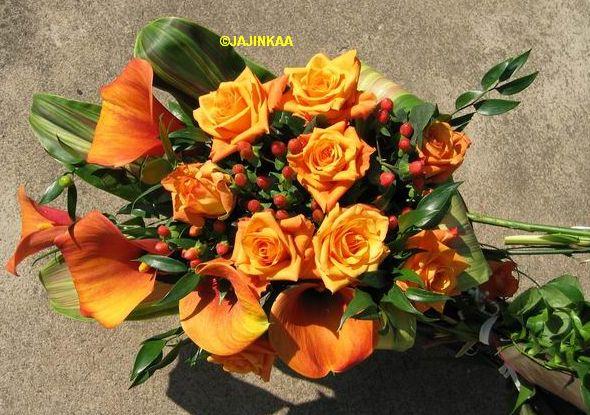 Monika + Patrik - 7.7.2007 - Podobnou budu mít - jen růže budou červené.